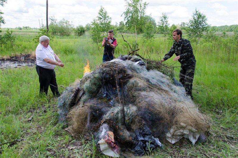 У природному заповіднику «Древлянський»  знищили 171 шт. риболовних сіток
