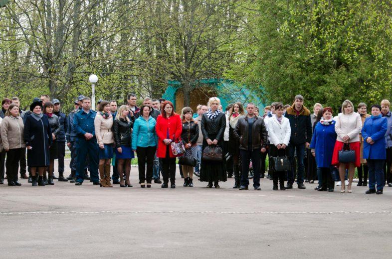 Працівники заповідника взяли участь у відзначені 31-ї річниці ліквідації наслідків аварії на Чорнобильській АЕС