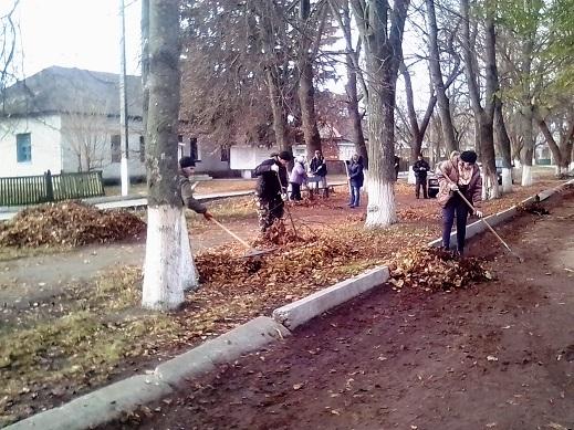 Провели прибирання прилеглої території заповідника «Древлянський»